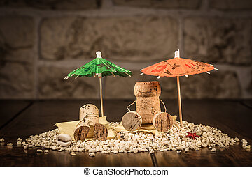 Wine cork figures, Concept Sommer Holiday - Concept Holiday...