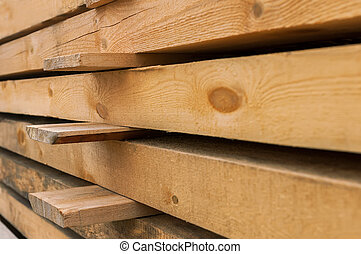 Wooden beams preparation