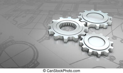 Mechanical engineering background animation