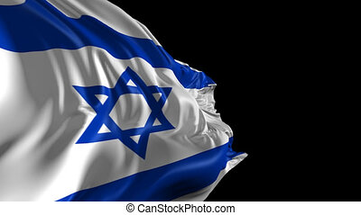 Flag of Israel - Beautiful 3d animation of The Flag of...