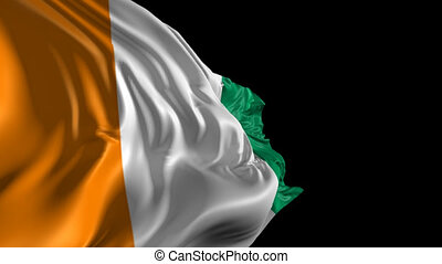 Flag of Ivory Coast - Beautiful 3d animation of Ivory Coast...