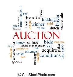 Auction Word Cloud Concept