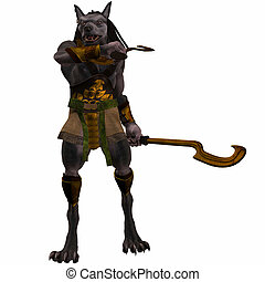 Anubis-Fantasy Egyptian Monster - 3D Render of an Fantasy...