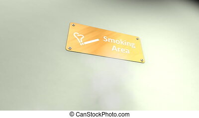 Public smoking area.