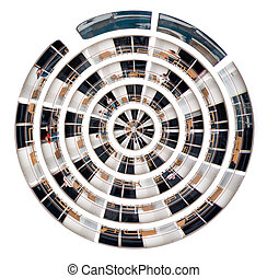decks of big cruise liner - little planet - spherical view...