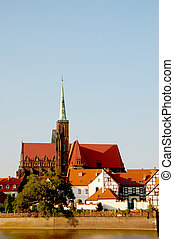Colorful cityscape of Wroclaw - Wonderful city of Wroclaw
