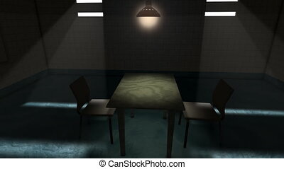 Interrogation room.