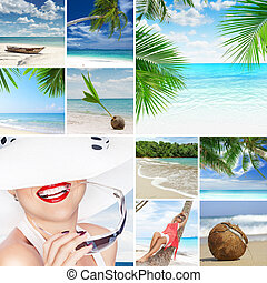 tropic mix - summer beach theme collage composed of a few...
