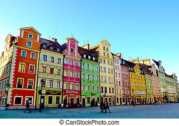 den, stad, Wroclaw, Polen