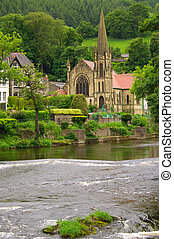 Church in Llangollen, UK - Church in Llangollen in...
