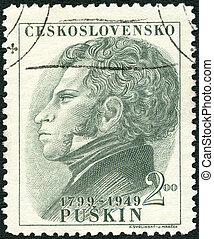 CZECHOSLOVAKIA - CIRCA 1949: A stamp printed in...