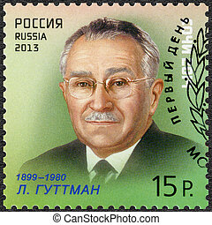 RUSSIA - CIRCA 2013: A stamp printed in Russia shows Ludwig...