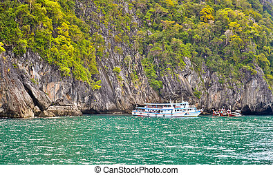 Emerald cave, Trang, Thailand