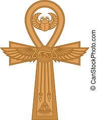 Ankh - Illustration of egyptian cross Ankh isolated on...