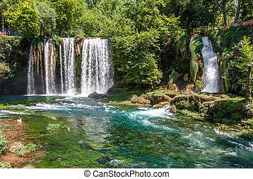 Duden waterfalls in Antalya, Turkey - Duden waterfalls and...