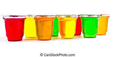 Fruit jellies - Many delicious varicoloured jellies in...