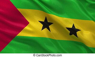 Flag of Sao Tome and Principe loop - Flag of Sao Tome and...