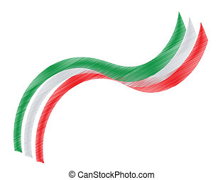 Italian flag - Graphic design with the colors of the Italian...