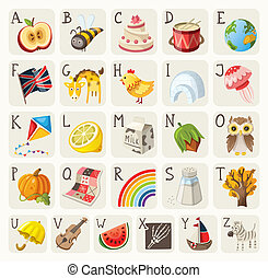 Alphabet for children. Vector