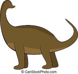 Dinosaur characters - Abstract dinosaur characters, EPS8 -...