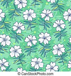 Beautiful flowers seamless pattern