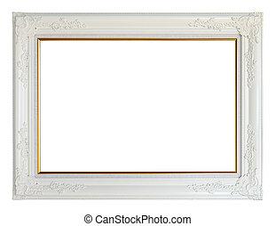 White louise photo frame, clipping path - White louise photo...