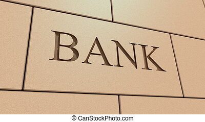 Bank failure - Banking system failure concept animation.