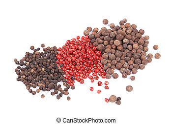 Various peppercorns.