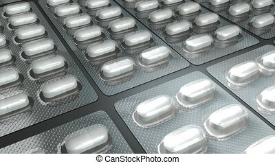 Pill capsule blister pack