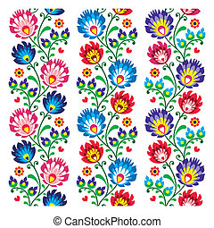 Seamless traditional folk polish pa - Repetitive colorful...