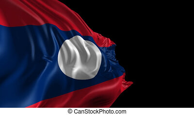 Flag of Laos - Beautiful 3d animation of the Laos flag with...