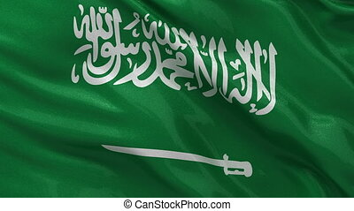 Flag of Saudi Arabia - loop - Flag of Saudi Arabia gently...