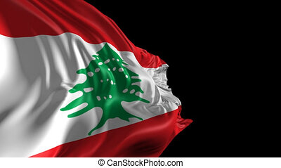 Flag of Lebanon - Beautiful 3d animation of the Lebanon Flag...