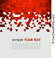 Abstract technology background with triangle Vector...
