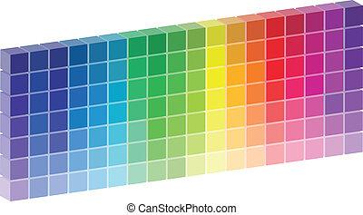 Color Palette Vector - 3D Color Palette Vector