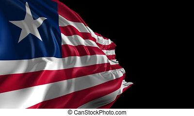 Flag of Liberia - Beautiful 3d animation of the Liberia flag...