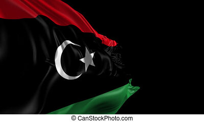 Flag of Libya - Beautiful 3d animation of the Libya flag...