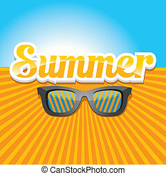 abstract summer background . - vector hello summer...