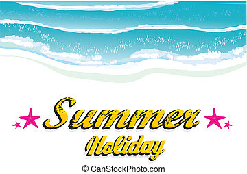 abstract summer background - vector hello summer...