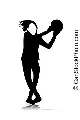 teenager playing with ball vector