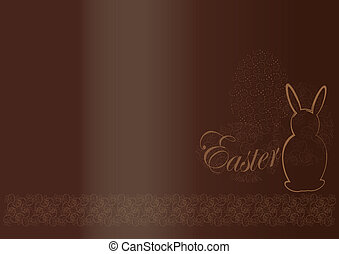 Chocolate background  Easter