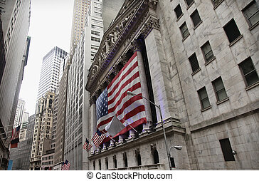 United States of America flag - NEW YORK CITY, USA - OCTOBER...