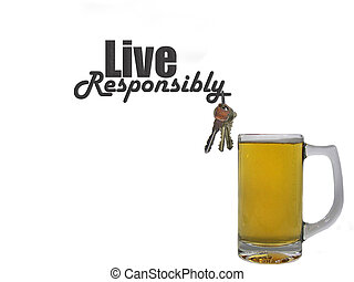 Live Responsibly - Smart concept when drinking beer.