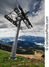 Chair Lift In Austria Grimming Salzkammergut Ausseerland