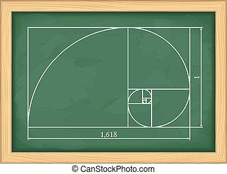 Golden Proportion - Illustration of a golden proportion on...