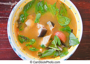 Thai fish hot and sour soup spicy,made by fish from The...