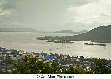 The Songkhla lake, view from Tang Kuan hill - The Songkhla...