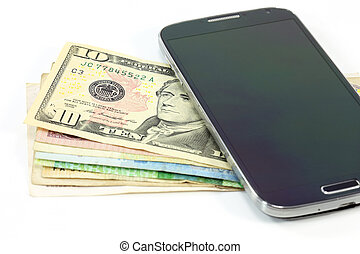 smartphone money business concept