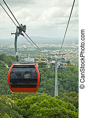 Cable Car at Hatyai Park , Hat Yai , Thailand - Cable Car at...
