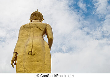 Temple at Hat Yai Thailand Standing Buddha